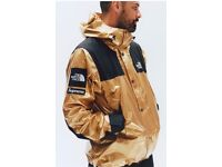 Supreme x northface gold metallic jacket. Sold out In store and online. Rare size small