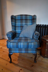 ONLY 4 days before going to auction - vintage 'parker knoll style' wingback fireside armchair - £250