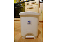 Waste bin set--2 touch top kitchen bins & 1 small pedal bin