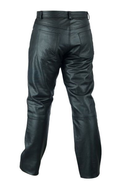 Used, New Mens Black Leather Trousers Motorbike Motorcycle Jeans Biker Cowhide Soft Pants Size 36-38 for sale  Charlton, London