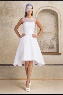Wunderschönes Brautkleid Mit Bolero, Gr. 38-40, Weiß
