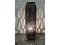 Moroccan style wicker floor lamp (DELIVERY AVAILABLE)