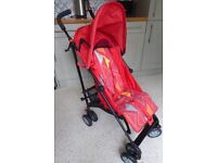 Mothercare stroller pushchair in bright, geometric design
