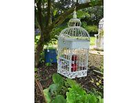 Fabulous unique Retro / Vintage Garden Ornamental Bird Cage