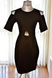 Motel Cut Out Bodycon Dress, size M, in Black BNWT.