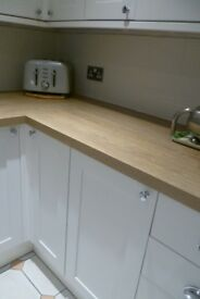 Howdens Oak Effect Worktop.