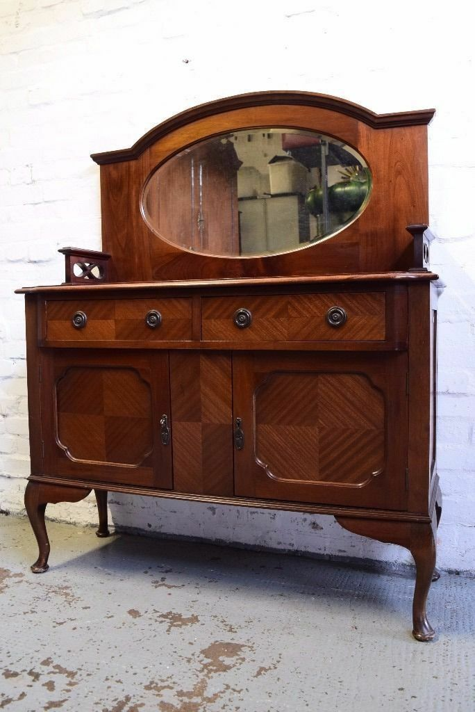 Mahogany Mirror Back Sideboard (DELIVERY AVAILABLE)