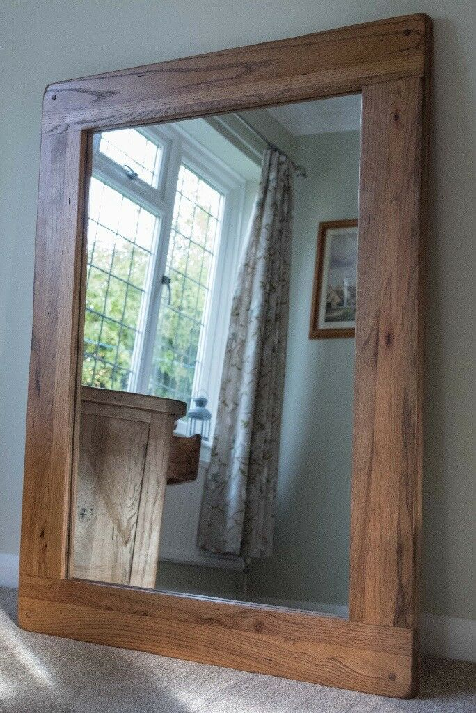 Solid Oak Mirror 120cm x 90cm x 4cm thick, horizontal or vertical ...