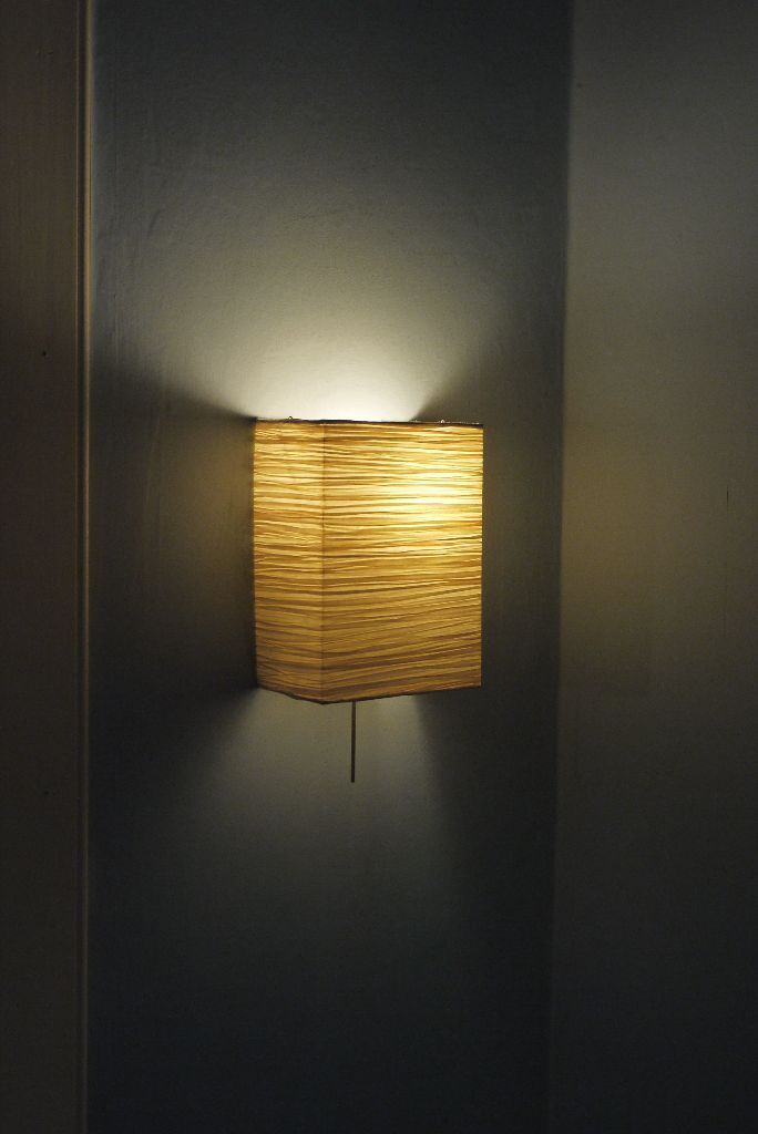 set of 2 ikea orgel wall lamp shades natural colour in west end