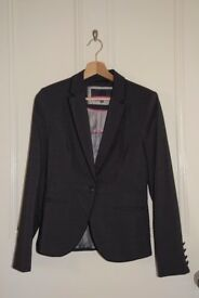 Women's grey size 8R slim fit suit jacket from Next