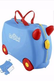 Trunki Blue - Jack Ride On Suitcase -Kids Hand Luggage- Brand New christmas gift
