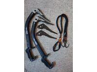 Ice Climbing Equipment. Axes, screws, boots etc