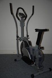 As new - Orbitrac programmable cross trainer/exercise bike