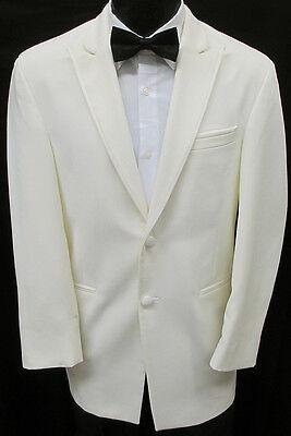 Ivory Chaps Ralph Lauren 2 Button Tuxedo Dinner Jacket Wedding Cruise Formal 40R