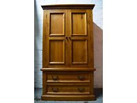 Pine Wardrobe Over Two Drawers (DELIVERY AVAILABLE)