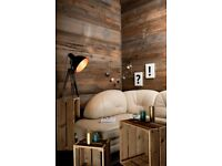 Wall cladding, Old planed plank (BROWN), Brushed planks, reclaimed wood, Old barnwood