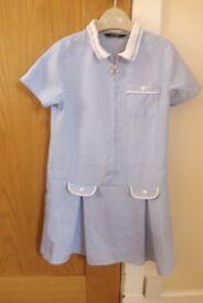 Girls Gingham School Dress Age 5-6