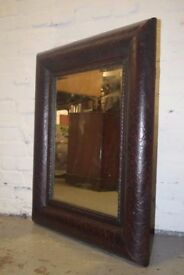 Leather framed mirror (DELIVERY AVAILABLE)