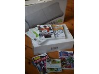 Wii fit with console and games (original packaging incl)