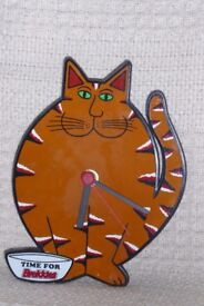 Collectible Vintage Time For Brekkies Wall Clock, Keeps Good Time, Battery Operated, Histon