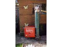 Mig welder Murex autolynx 161 with full size (empty) gas bottle