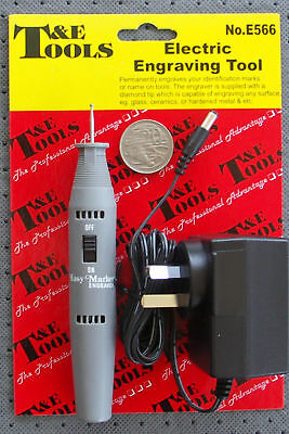 ENGRAVING TOOL ELECTRIC ENGRAVER w/- DIAMOND TIP for HARD MATERIALS T&E DALLAS