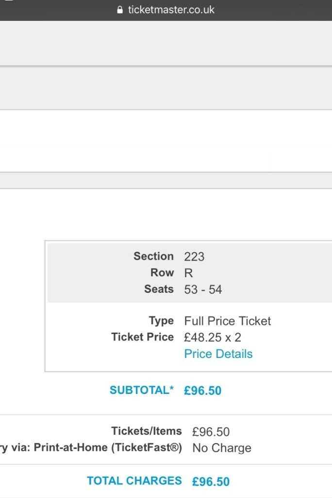 Two seated Paramore Tickets for Sat 20th Jan at Glasgow Hydro