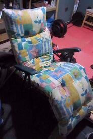 Reclining full length garden/sunroom chair