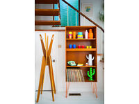 G Plan E Gomme Mid Century Teak Bookcase with working lights on hairpin legs