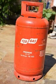 FLOW GAS BOTTLE, PROPANE 19KG, EMPTY, IDEAL FOR BBQ, PATIO HEATERS, ROOFING WORK