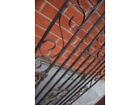 Wrought iron gate - 77 x 223 - Other salvage - Salt Glazed troughs - lots Cast Iron fire surrounds