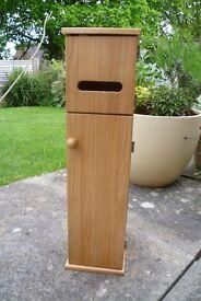Pine Bathroom Utility Cabinet