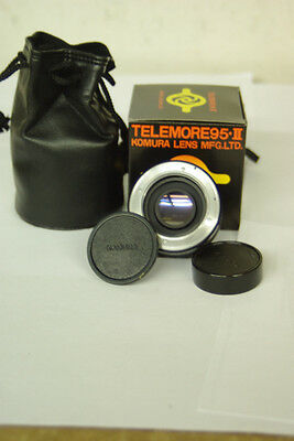 2x 7 Element Komura Telemore Teleconverter Lens For Konica Ee Ae Mount