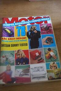 Motor Dec 2 1978 Datsun Sunny TEST ..Lancia Beta 2000 Auto Driven ...New Mini