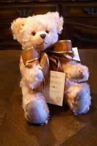 Martin-J-Hermann-Teddy-Bear-Poesy-Pink-Mohair-Stuffed-Animal-German-Germany-Toy
