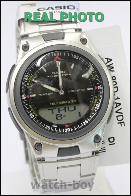 AW-80D-1A Japan Movt Genuine Casio Watch 10-Year Battery Life Steel Band Black