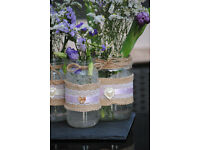 fancy jars for decorative purposes - idea for parties, weddings etc