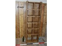 PIGEON HOLES bookcase 2 col x 6 rows reclaimed wood salvage hunters Brighton London England gplanera