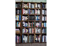 Book lover's bookcase varying height shelves for your collection. Shelves reclaimed wood gplanera