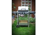 2 Burner + Side Burner Gas BBQ with Propane Canister