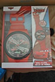 disney cars clock. giant watch hangs on wall. 90cm. BRAND NEW