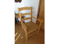Upright Chair with Arms