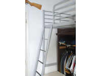 Ikea SVARTA High Metal bed frame only