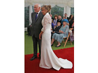 Exclusive Sassi Holford ivory size 10 wedding gown & lace jacket