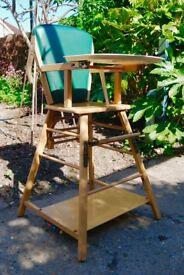 Vintage Highchair/Table & Chair - Good Condition