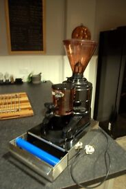 Iberital Commercial Coffee Grinder with S/S Under Grinder Knock Out Box