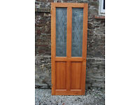 Solid Pine Frosted Glass Panelled Interior Door - *Free Local Delivery