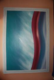 2 x oil canvas's