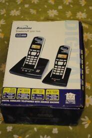 BINATONE SYMPHONY 2210 TWIN PHONE (TWO HANDSETS). NEVER USED. £15.