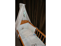 Mothercare rocking crib with two mattress